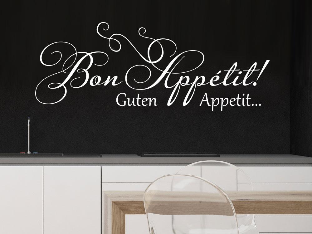 Wandtattoo verschnörkeltes Bon appétit