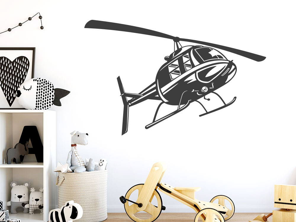 Wandtattoo Helikopter