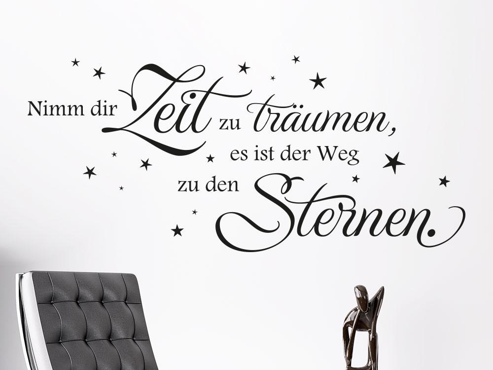 Wandtattoo Spruch Weg zu den Sternen... im Wohnzimmer