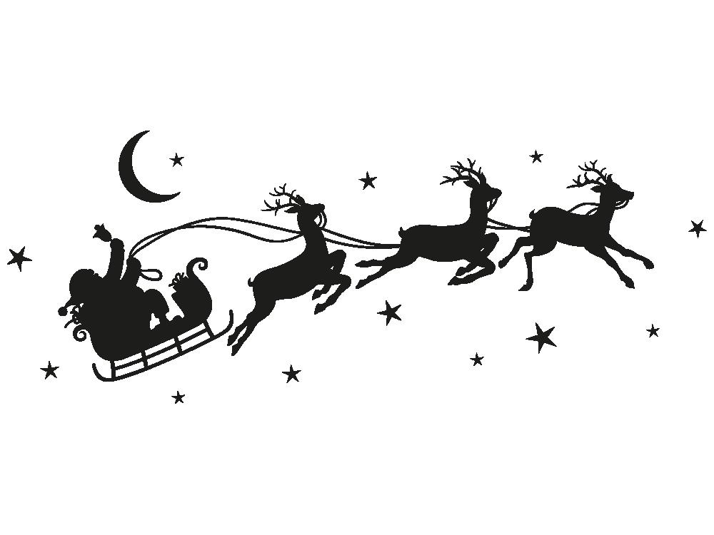 Wandtattoo Weihnachtsschlitten von KLEBEHELD®.DE