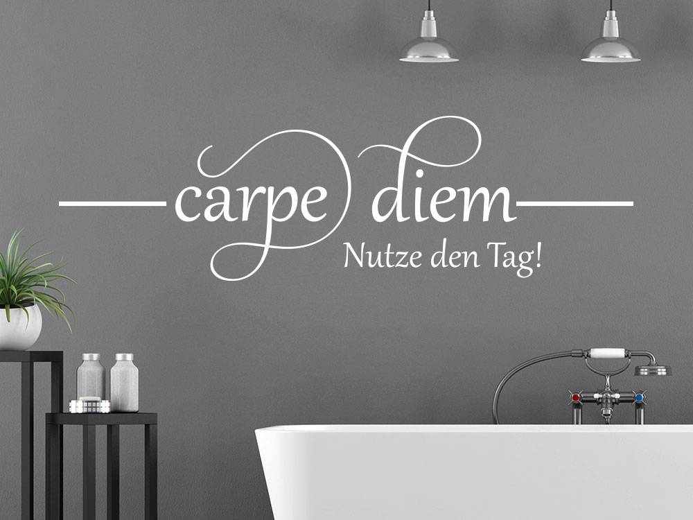 carpe diem wandtattoo von klebeheld de. Black Bedroom Furniture Sets. Home Design Ideas