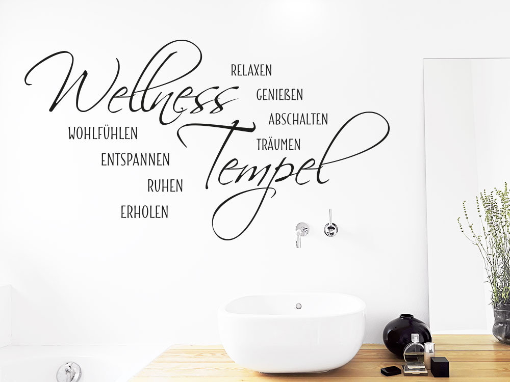 Wandtattoo Wellness Tempel