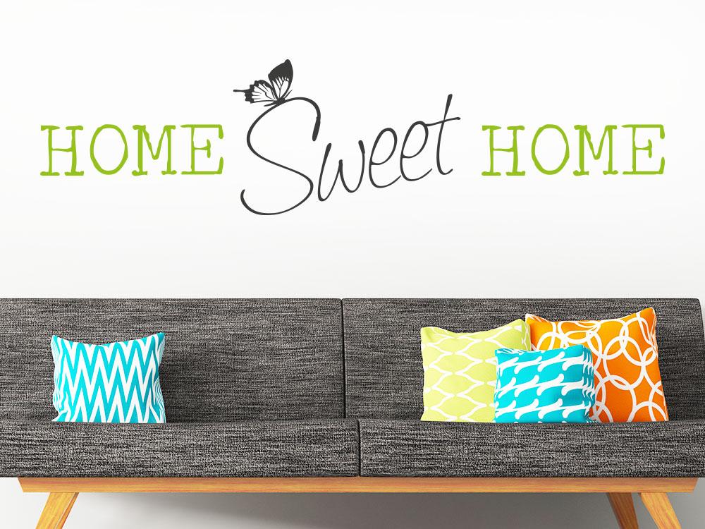 Wandtattoo Home sweet home zweifarbig