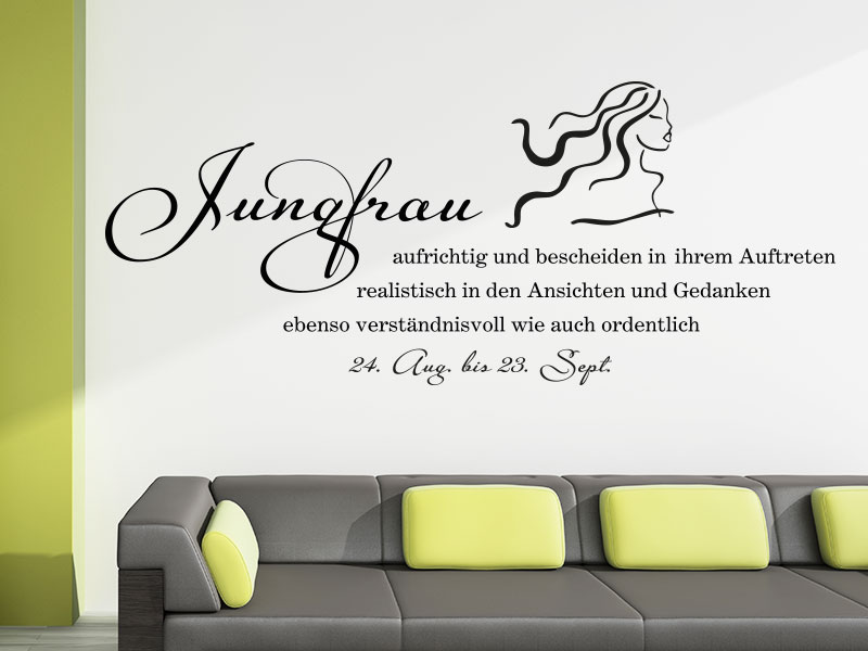wandtattoo sternzeichen jungfrau sternzeichen als wandtattoo. Black Bedroom Furniture Sets. Home Design Ideas