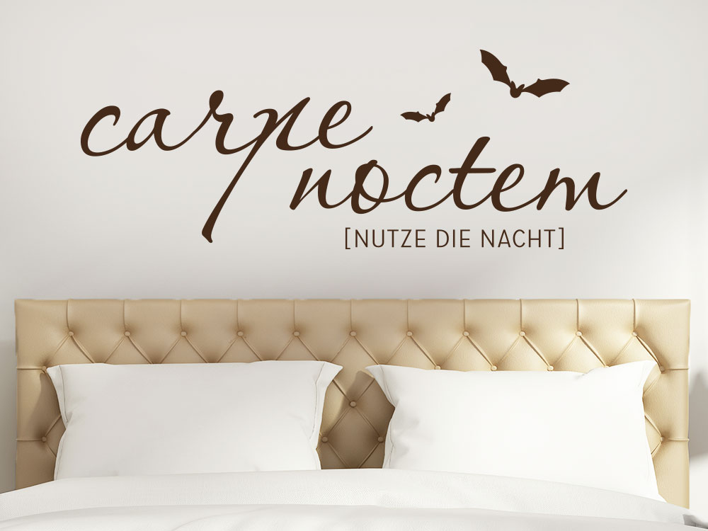 Carpe noctem Wandtattoo