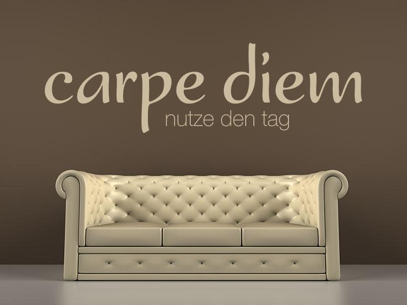 Wandtattoo Carpe Diem - Nutze den Tag