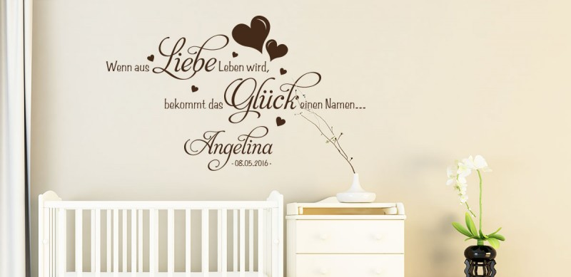 babyzimmer wandtattoos wandtattoo f r babys klebeheld. Black Bedroom Furniture Sets. Home Design Ideas