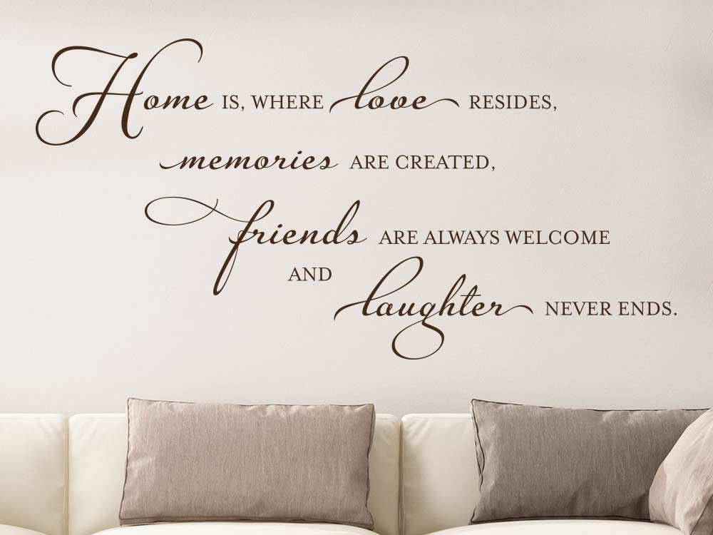 Wandtattoo Home is where love resides -englischer Wandtattoo Spruch