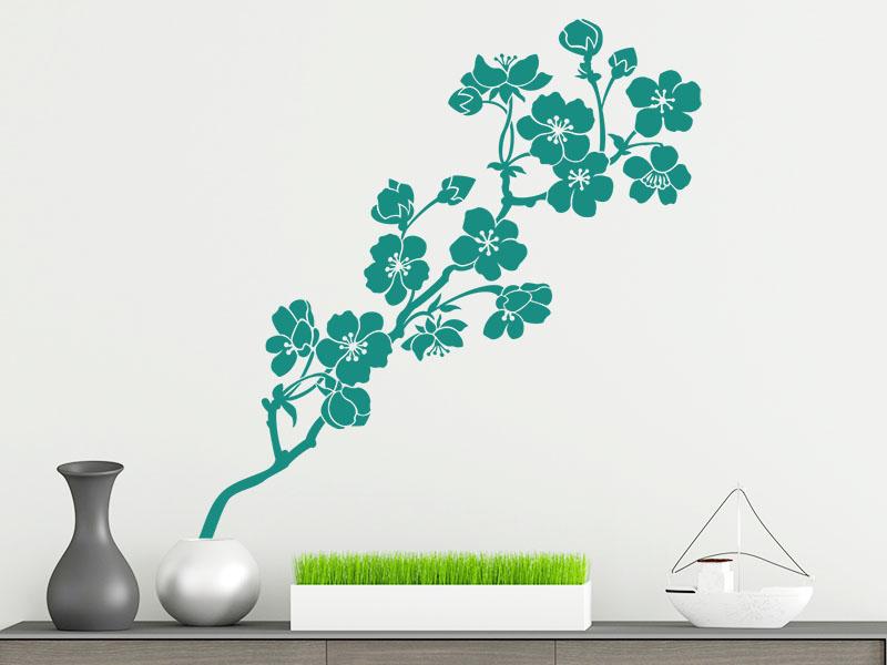 Kirschblütenzweig als Wandtattoo
