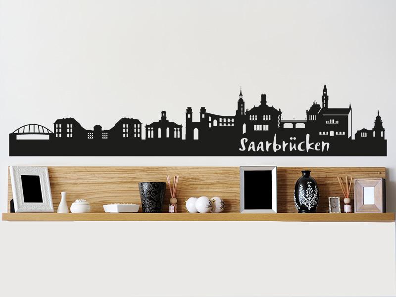 Wandtattoo Skyline Saarbrücken
