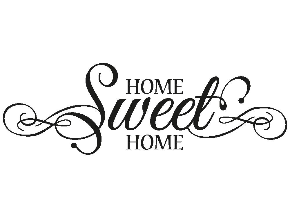 wandtattoo home sweet home schn rkel klebeheld de. Black Bedroom Furniture Sets. Home Design Ideas