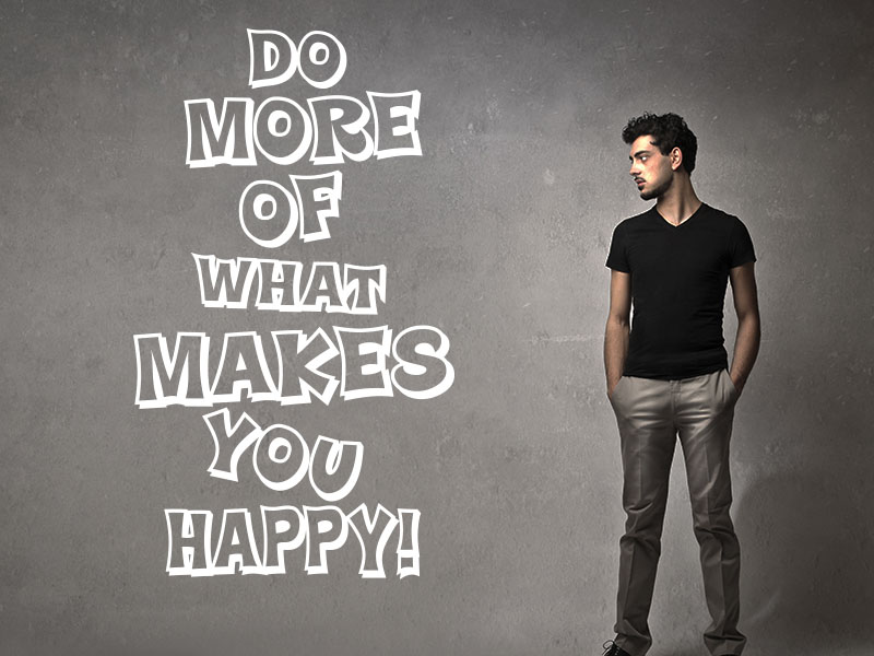 Wandtattoo Spruch Do more of what makes you happy!