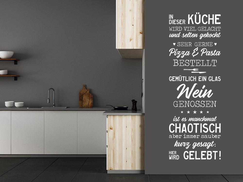 Wandtattoo In dieser Küche Banner