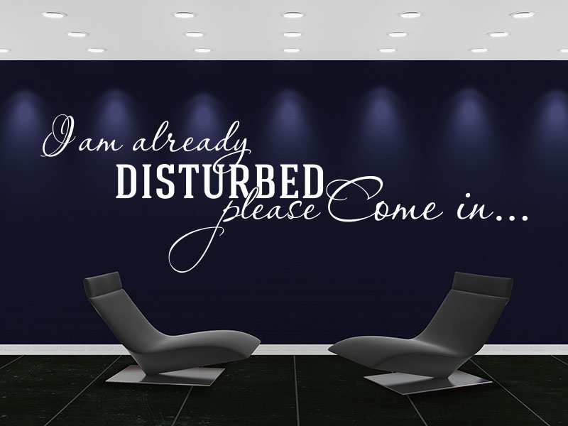 Wandtattoo Spruch Flur - I am already disturbed please come in