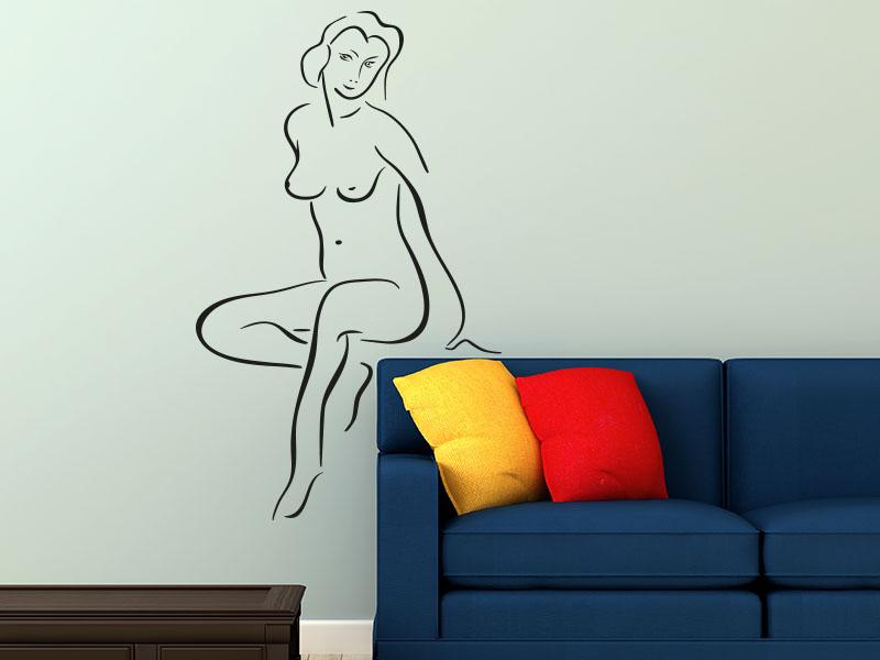 Wandtattoo Aktportrait einer Frau