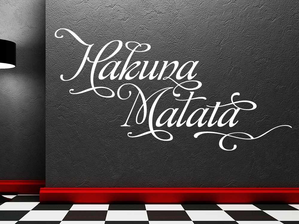 Wandtattoo Hakuna Matata in Weiss