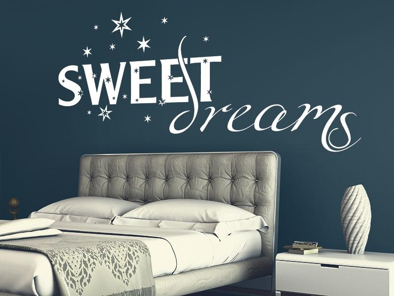 Wandtattoo Sweet Dreams mit Sternen