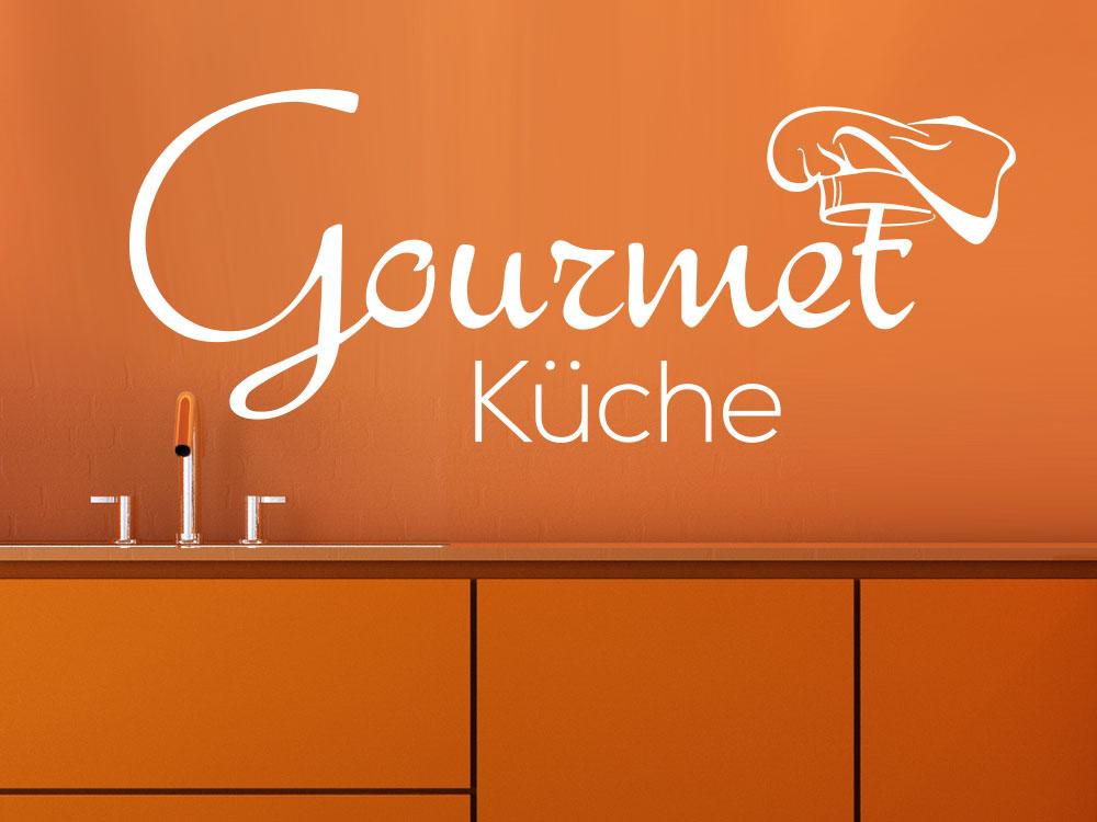 Wandtattoo Gourmet Küche im Küchenbereich