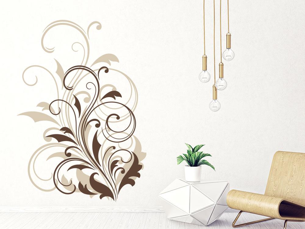 Wandtattoo Ornament in zwei Farben Wohnbereich