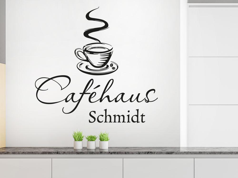 Wandtattoo Caféhaus
