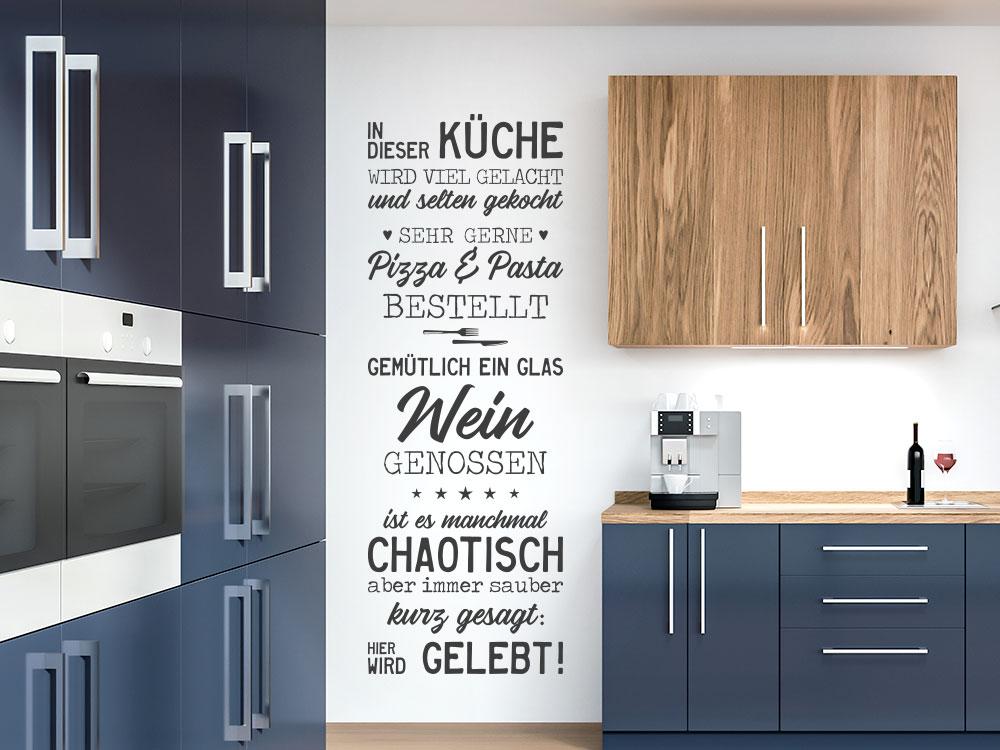 In dieser Küche Wandtattoo Banner