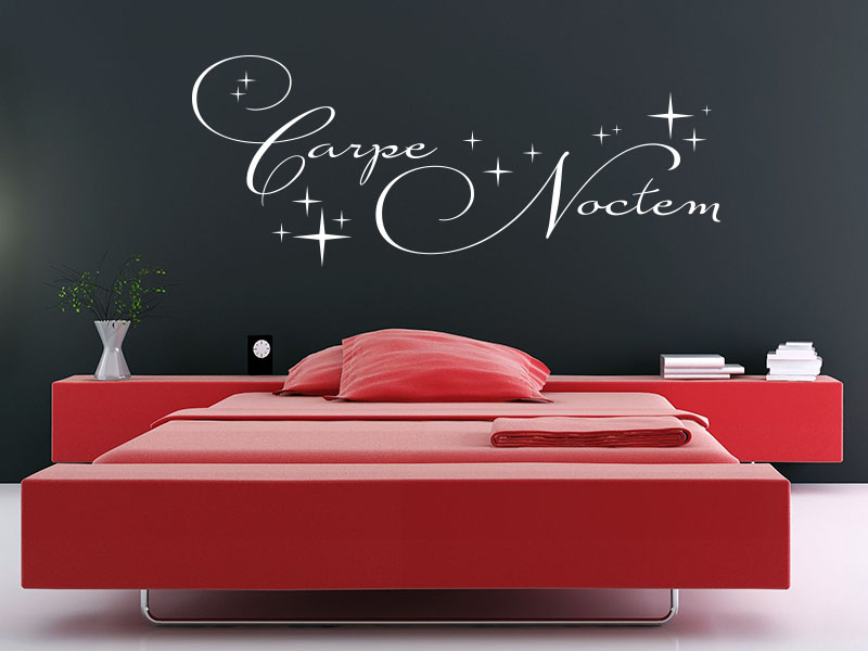 wandtattoo carpe noctem nutze die nacht klebeheld. Black Bedroom Furniture Sets. Home Design Ideas