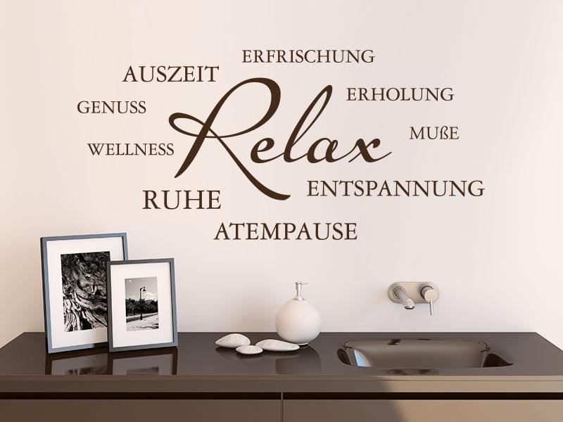 Wandtattoo Relaxe Wortwolke
