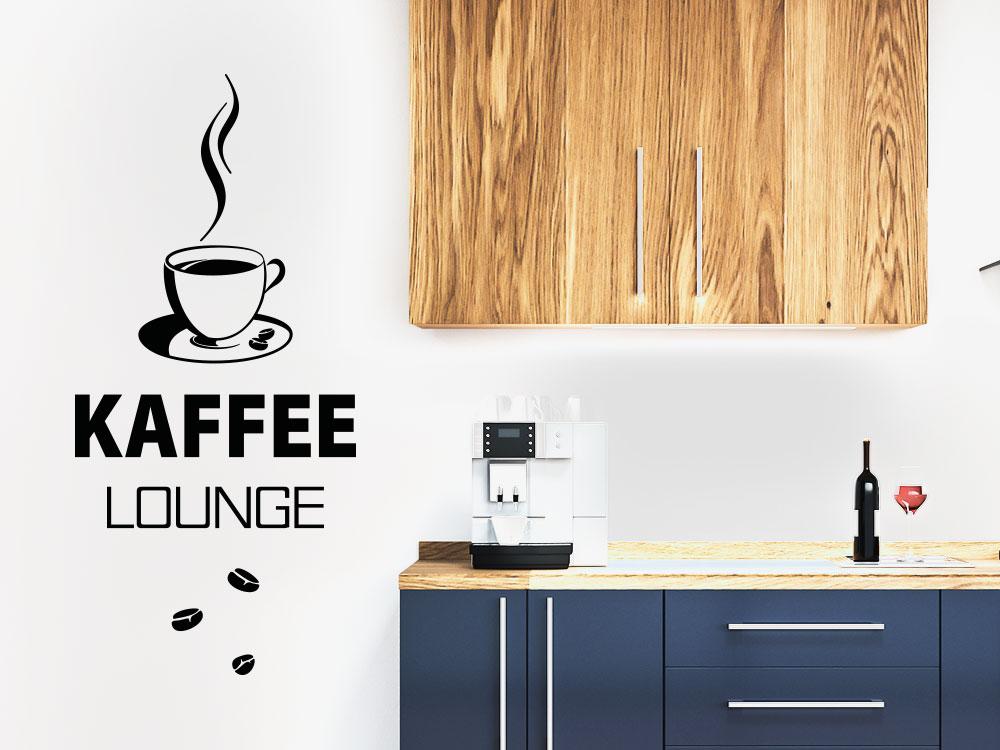 Wandtattoo Kaffeelounge