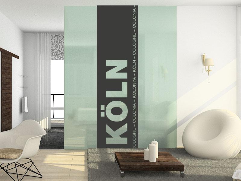 Wandtattoo Banner der Stadt Köln