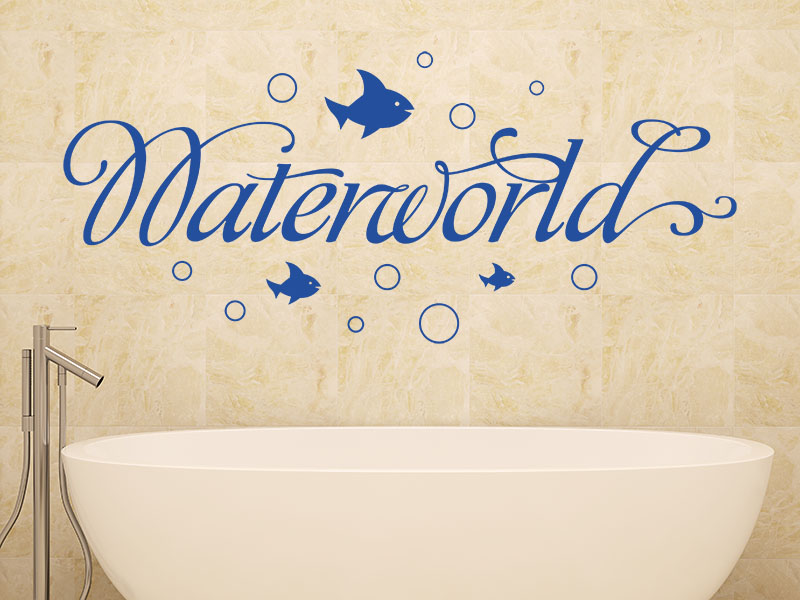 Wandtattoo Waterwolrd