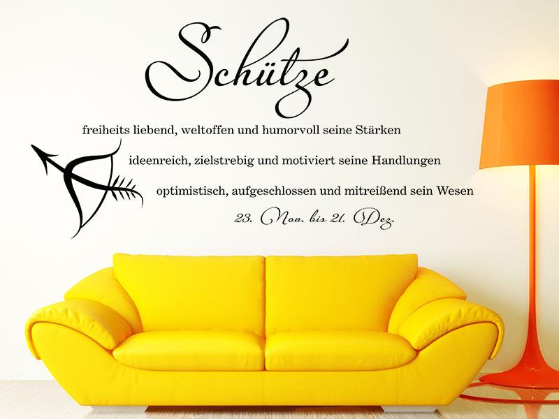 wandtattoo sch tze als sternzeichen bei klebeheld. Black Bedroom Furniture Sets. Home Design Ideas