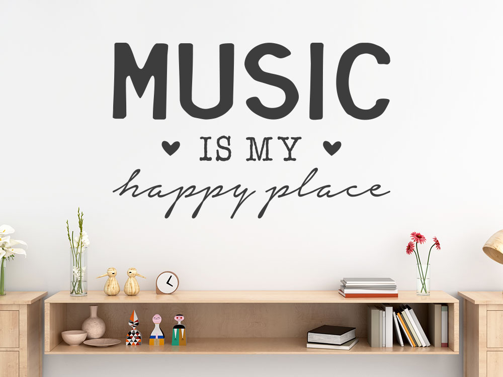Wandtattoo Music is my happy place