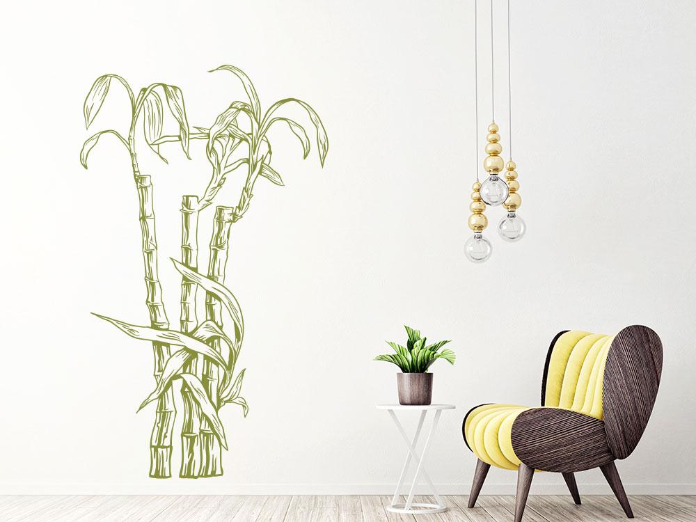 Wandtattoo Bambus Gewächs
