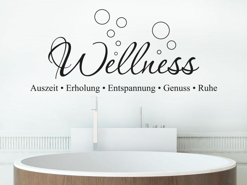 Wandtattoo Wellness