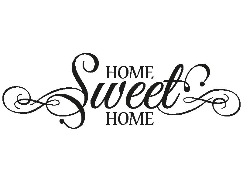 wandtattoo garderobe home sweet home von. Black Bedroom Furniture Sets. Home Design Ideas