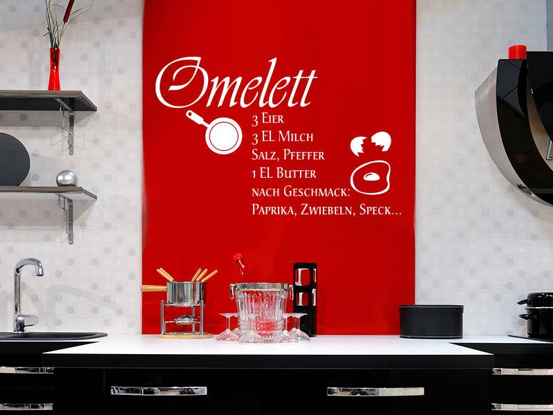 Wandtattoo Omelett
