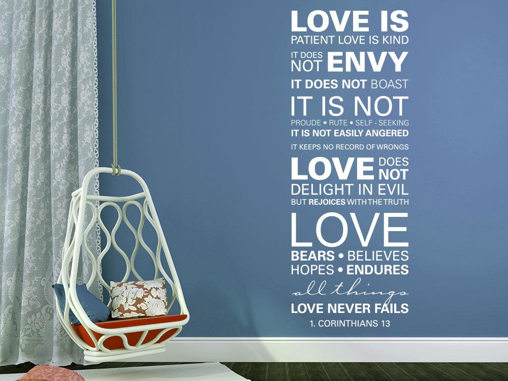 Wandtattoo 1 Corinthians 13