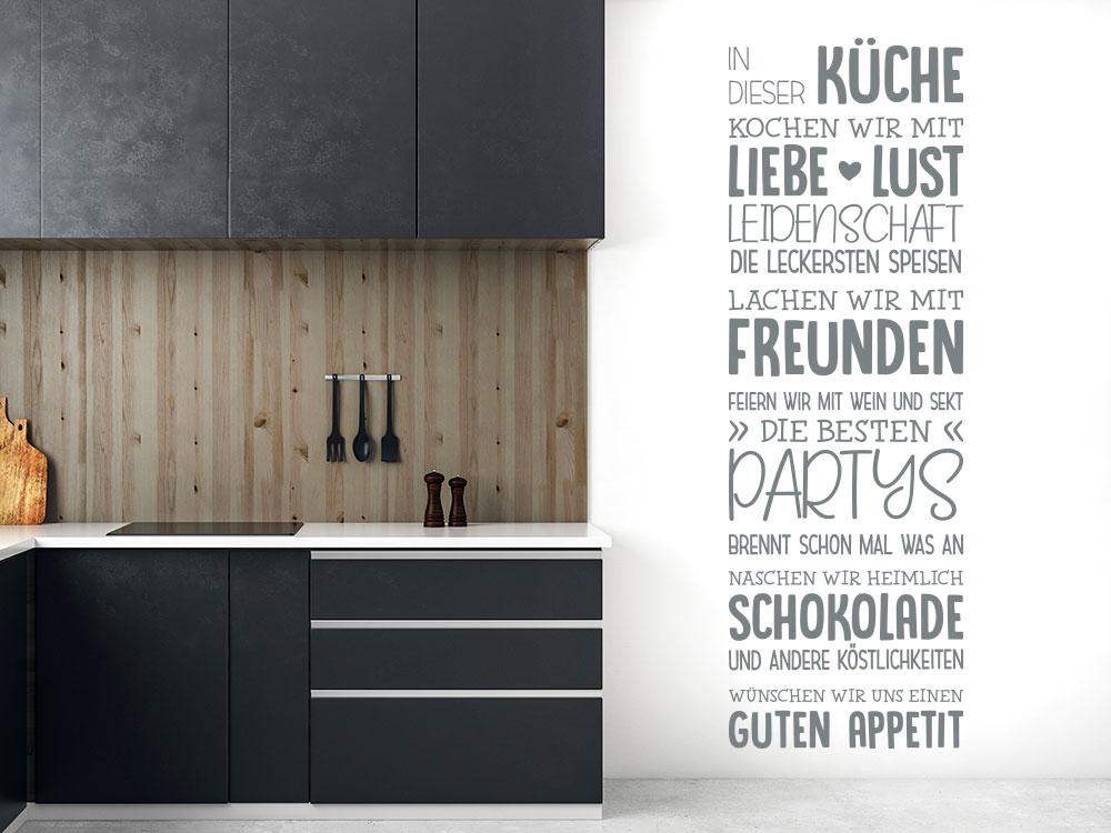 In dieser Küche Wandtattoo neben Küchenzeile