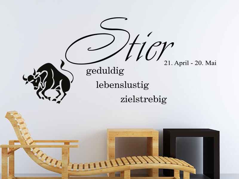 stier wandtattoo sternzeichen als wandtattoos horoskop. Black Bedroom Furniture Sets. Home Design Ideas