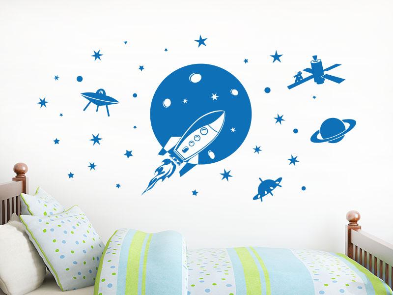 Wandtattoo Weltraum