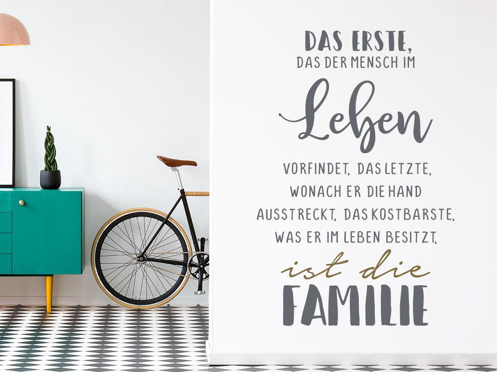 Wandtattoo Leben ist die Familie