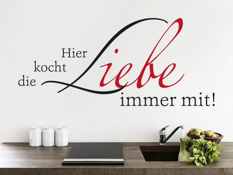 Wandtattoo Hier kocht die Liebe immer mit - Klebeheld.de