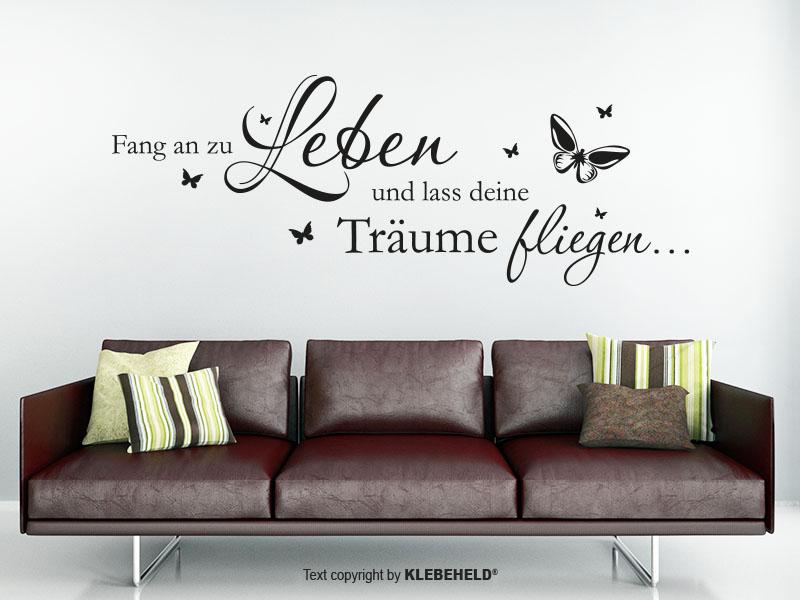 Wandtattoo - Lass deine Träume fliegen