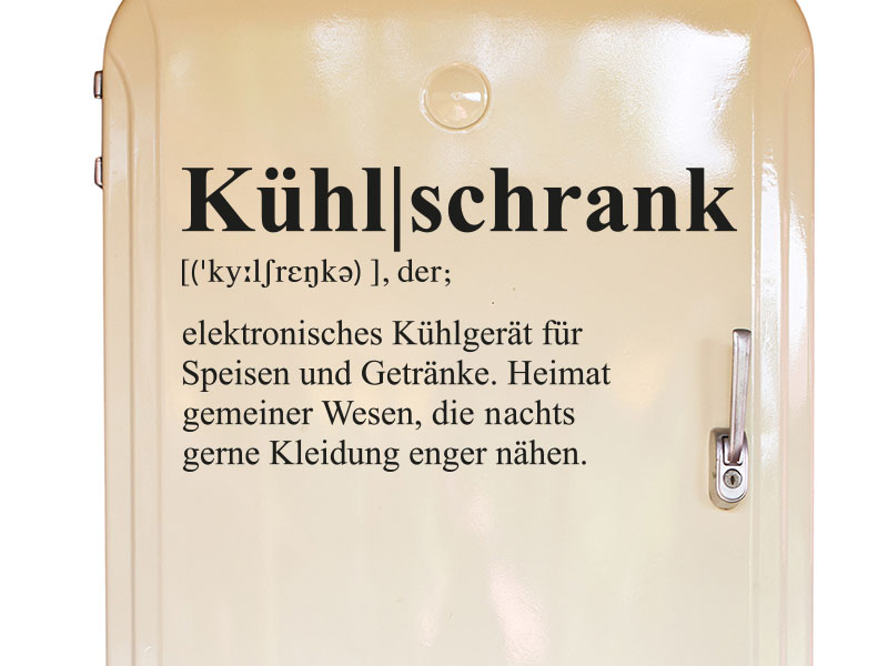 Wandtattoo Kühlschrank Definition