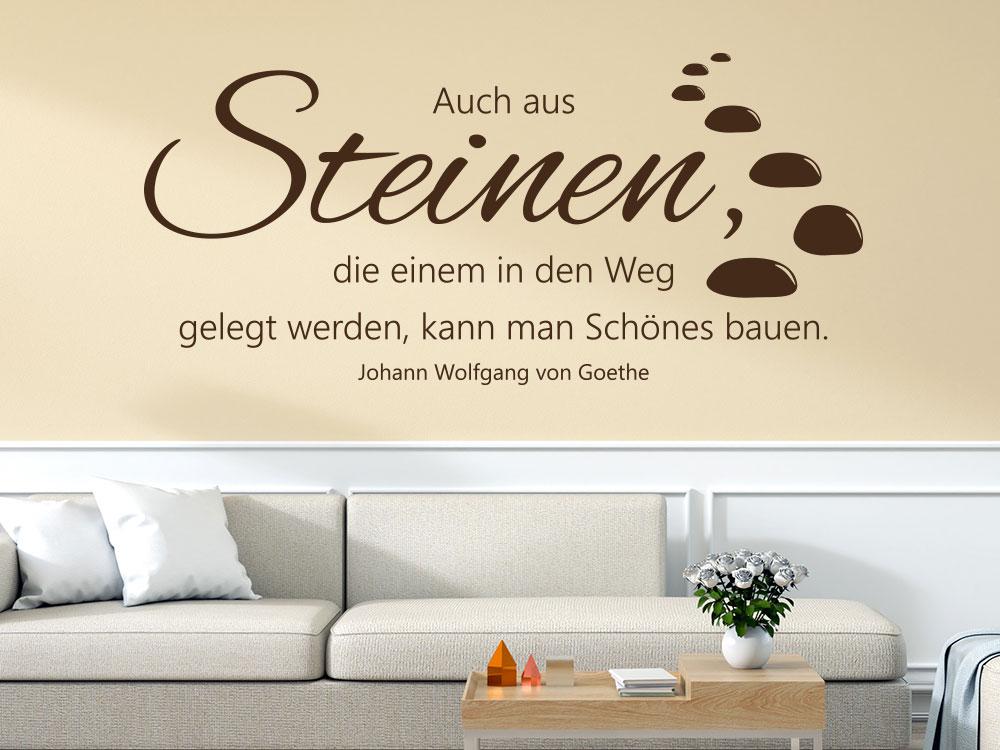 Wandtattoo Steine Zitat Goethe