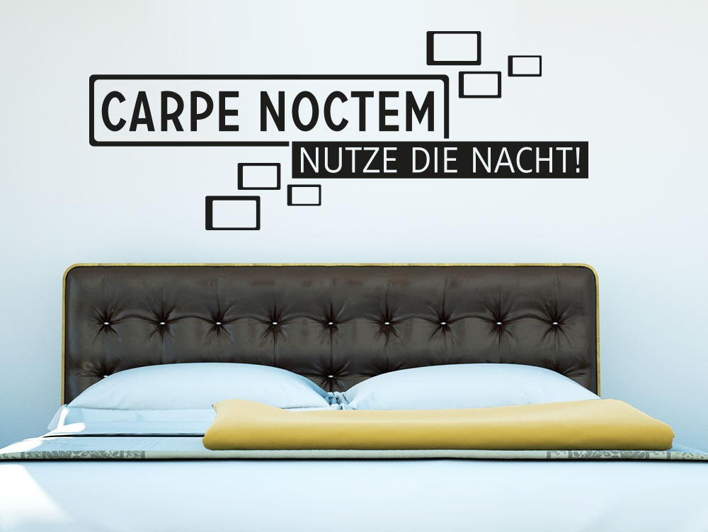 wandtattoo carpe noctem retro cubes von klebeheld de. Black Bedroom Furniture Sets. Home Design Ideas