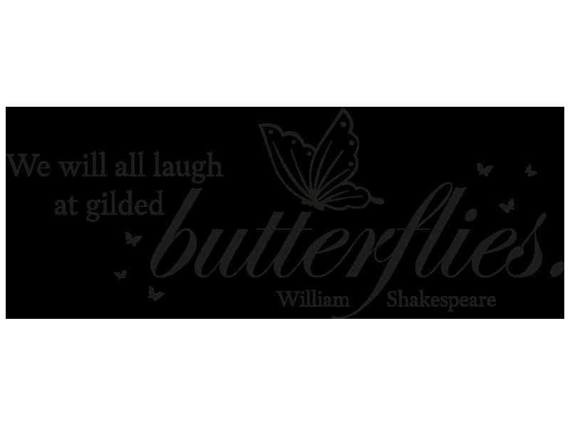 Wandtattoo Zitat Gilded Butterflies Bei Klebeheld