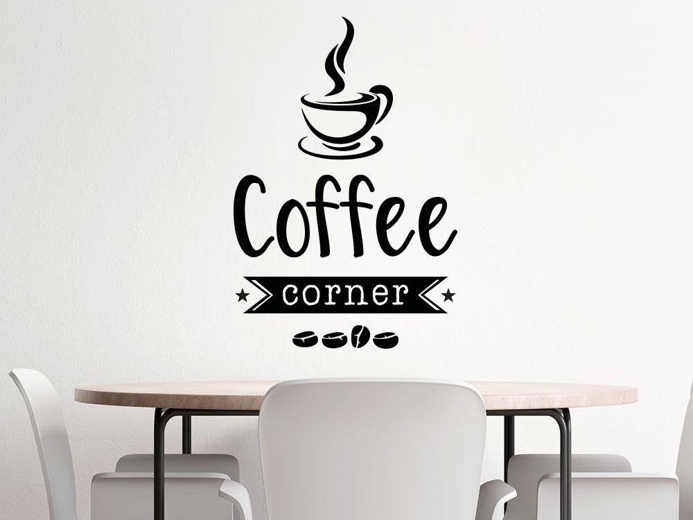 Wandtattoo Coffee Corner im Büro