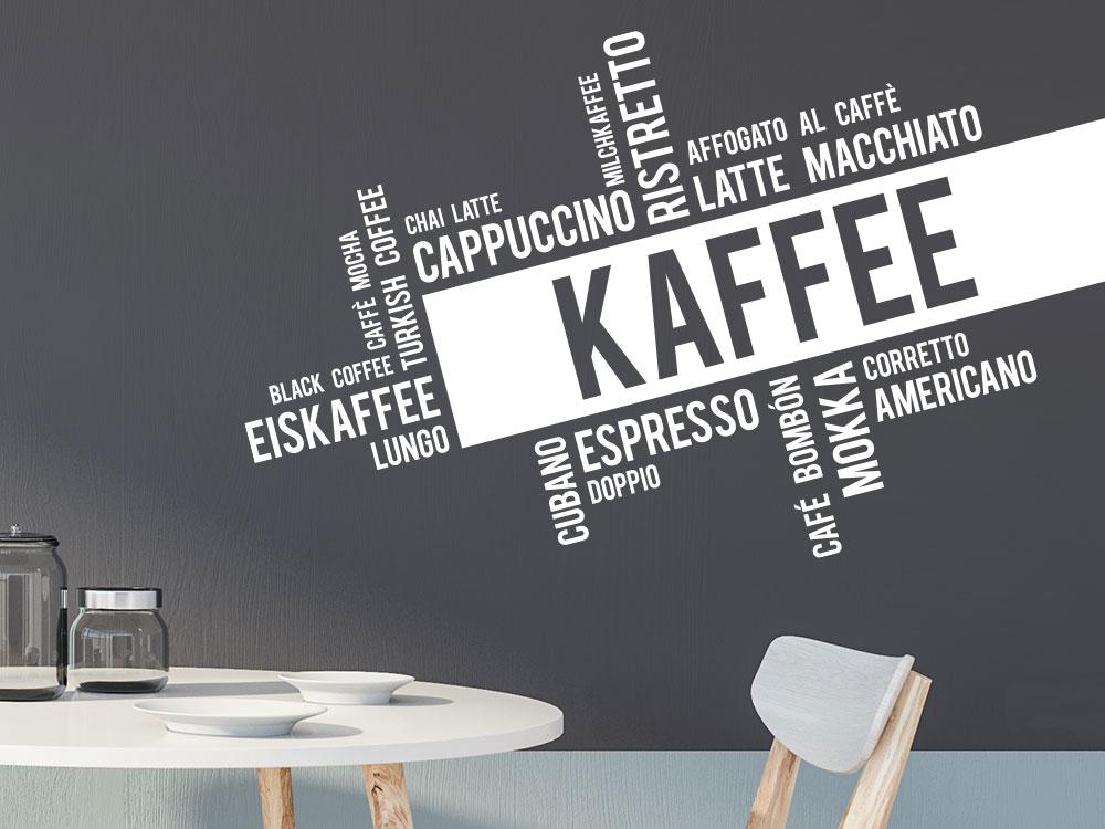 Wandtattoo Moderne Kaffee Wortwolke