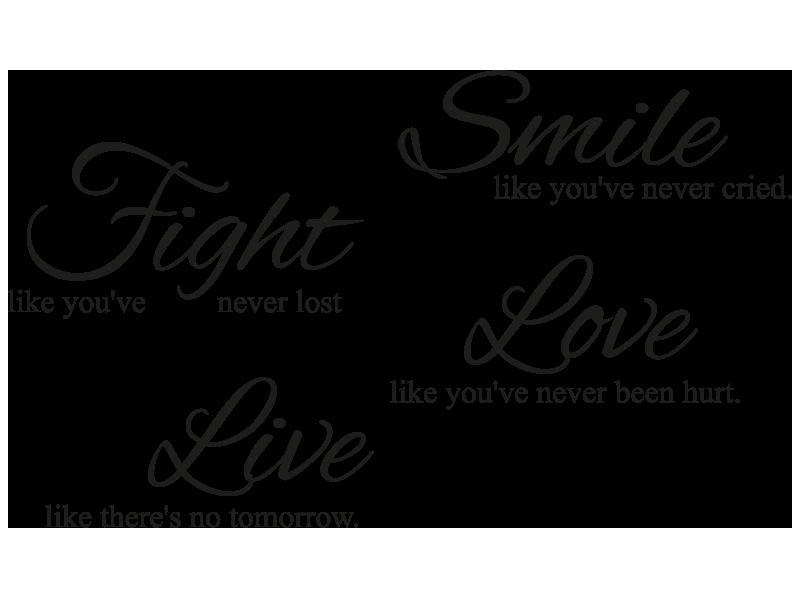 smile sprüche Wandtattoo Smile Fight Love Live | Spruch für die Wand smile sprüche